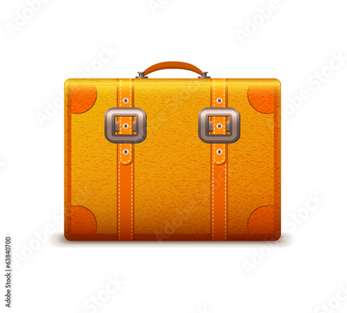 Travel suitcase emblem