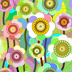 Creative seamless flower background.