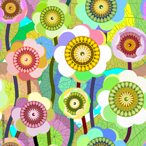 Creative seamless flower background.