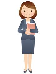 スーツを着た女性 教師 先生
