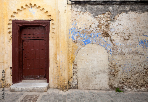 Wall fragment in old Medina, historical part of Tangier, Morocco