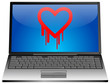 Laptop mit Heartbleed bug