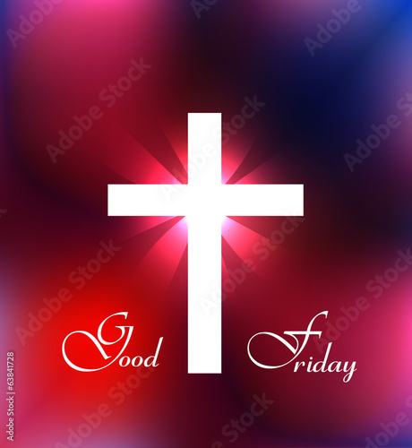 Good Friday background Cross for colorful design illustration