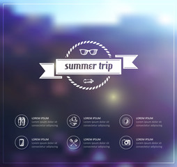 summer trip poster background.
