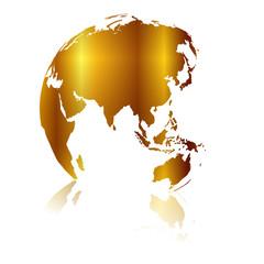 世界 地図 金