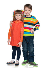 Two fashion smiling children