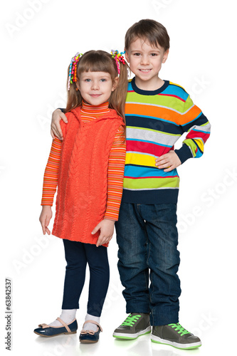 Two fashion smiling children