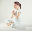 Young girl meditate