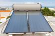 chauffe-eau solaire sur toit en terrasse