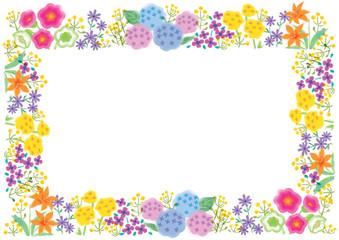 花 フラワー 枠 フレーム