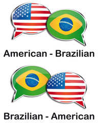 American - Brazilian translator clouds
