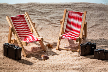Liegestuhl am Sandstrand