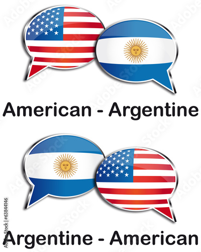 American - Argentine translator clouds