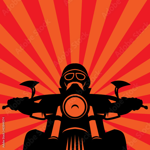 Vintage Motorcycle race label, vector