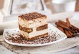 Fototapety Tiramisu dessert cake.