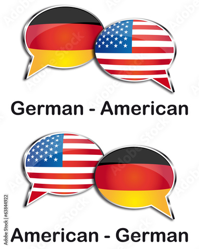 German - American translator clouds
