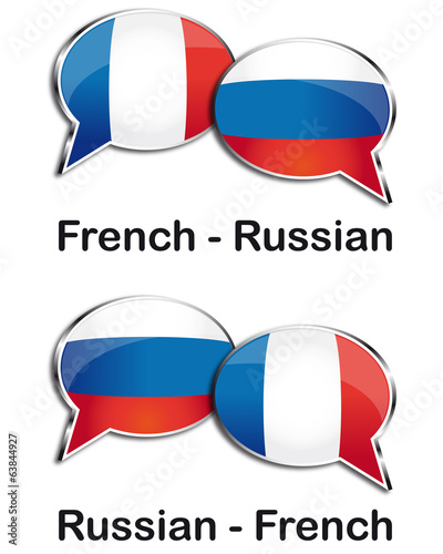 French - Russian translator clouds