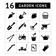 Set icons of garden