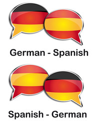 German - Spanish translator clouds