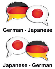 German - Japanese translator clouds