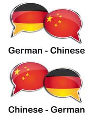 German - Chinese translator clouds