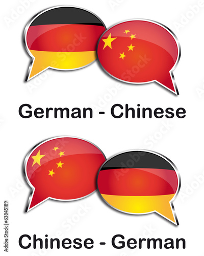 German - Chinese translator clouds