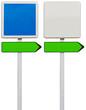 panneaux et flèches directionnelles sans marquage