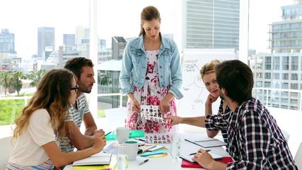 Team of designers having a meeting