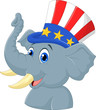 Republican Elephant Cartoon Character