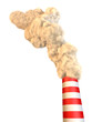 Ciminiera con fumo, inquinamento