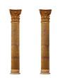 Leinwanddruck Bild - Two Ionic columns on white background