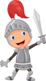 Fototapety Cartoon knight boy