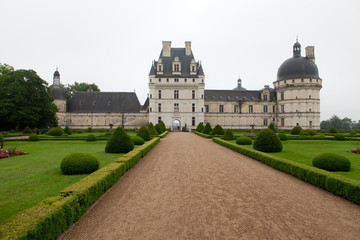 Garden and Castle of Valencay in Loire Valley in France