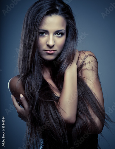 beauty young woman glamour portrait