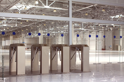 New access control system in large building hall