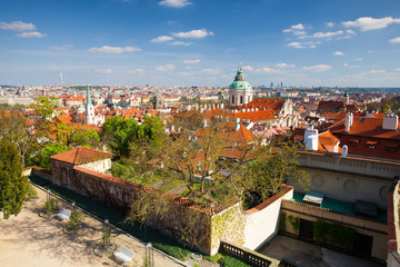 View from Garden of Paradise on spring Prague - HDR Photo