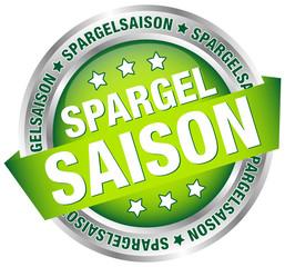 """Button Banner """"Spargelsaison"""" grün/silber"""