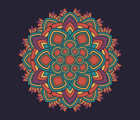 Geometric radial pattern