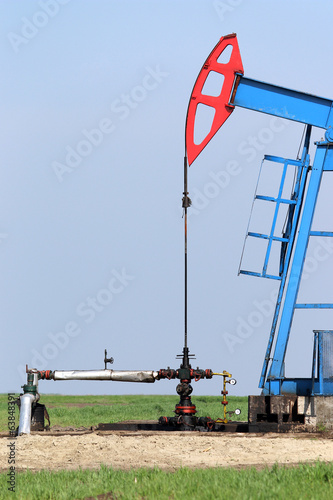 oil pump jack and valve with pipeline