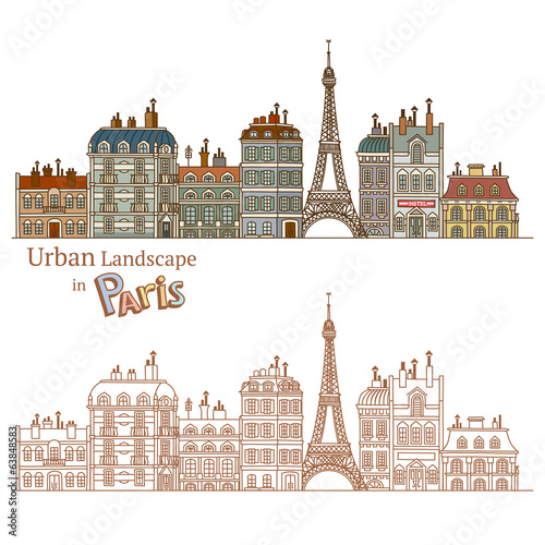 Design of Urban Landscape and Typical Parisian Architecture