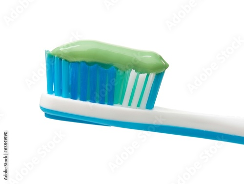 Light-blue toothbrush