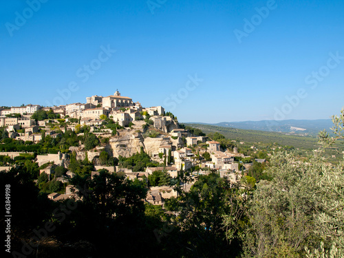 View over the ancient city of Gordes in France