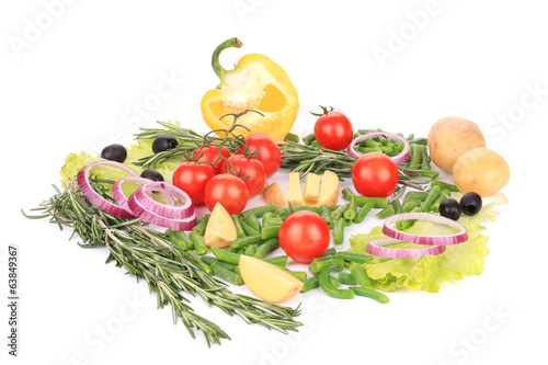 Various fresh vegetables.