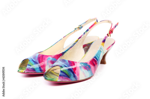 Colourful woman shoes.