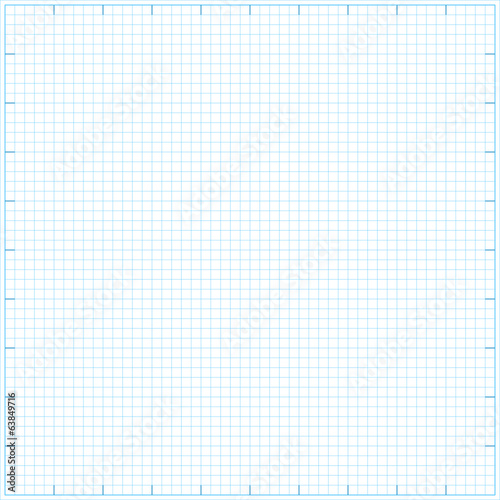 Square grid math paper background. Vector illustration.