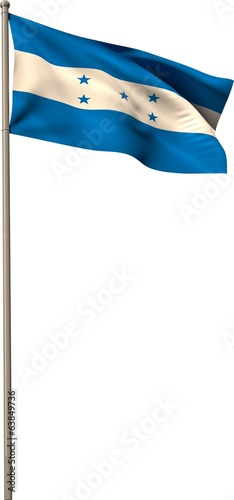 Digitally generated honduran national flag