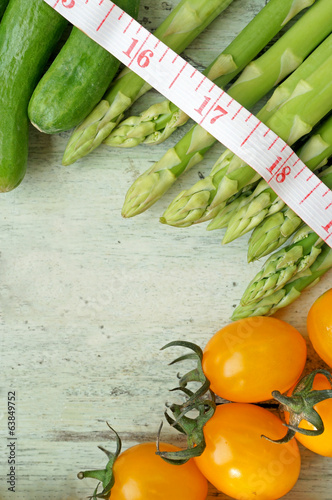 Assortment of fresh vegetables close up (diet concept)