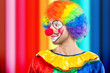 Colorful clown portrait