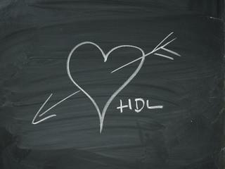 Herz Tafel Kreide