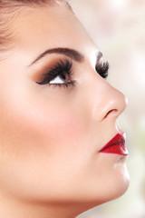 Schönes Model mit perfektem makeup